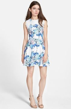 Sister Jane 'Paradise' Floral Fit & Flare Dress available at #Nordstrom
