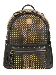 MCM - MEDIUM BACKPACK STARK STUDDED BACKPACK - LUISAVIAROMA - LUXURY SHOPPING WORLDWIDE SHIPPING - FLORENCE