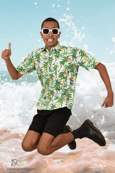 Mens Hawaiian Shirt - It's a PINEAPPLE PARTY!  Matching cotton shorts sold separately. See other listings. 🍍🍍🍍🍍🍍🍍🍍🍍 #hawaiianshirt #hawawaiianshirts #partyshirt #alohafriday #pineappleparty #luaushirt #cruisewear #islandstyleclothing #pineappleshirt #festivalshirt #festivalfashion #fashion #fashionita #partyshirt