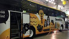Savonlinjan bussit saavat kevään aikana uuden ilmeen. Bussien kyljissä seikkailevat kotimaiset eläimet.