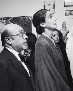 Mica with her husband Ahmet Ertegun.