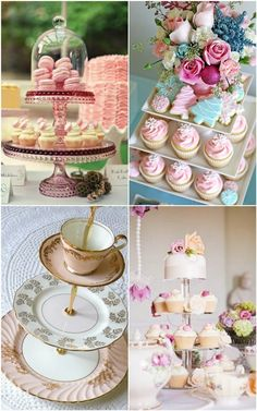 SO pretty! Morgan look at these!!!! Instead of cupcakes, mini pastries and tarts