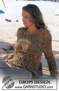 DROPS 82-13 - DROPS Pullover in Cotton-Viscose and Safran. - Free pattern by DROPS Design