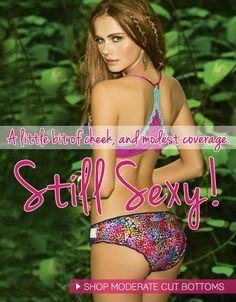 Shop moderate coverage bottoms. #2014 #designer #swimwear #sexy #moderate #coverage #bikini #bottom