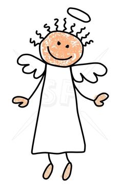 Cute, child-like angel stick figures clip art. Rock Crafts, Crafts To Do, Drawing For Kids, Art For Kids, Angel Clipart, Stick Figure Drawing, Angel Drawing, Angel Images, Sharpie Crafts