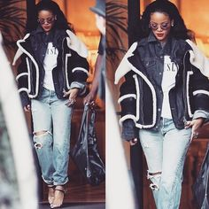 PaRih <3 Rihanna, Bomber Jacket, Jackets, Fashion, Down Jackets, Moda, Fashion Styles, Fashion Illustrations, Bomber Jackets