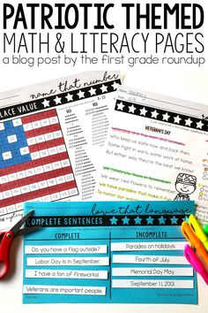 Are you looking for PATRIOTIC themed first grade skill practice and reading passages for morning work, independent practice or test prep? This print and teach resource is perfect for all these needs, but appropriate for 1st graders too! Themed for Memorial Day, Veteran's Day, 4th of July and September 11th!