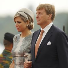 King William Alexander and Queen Maxima of the Netherland at the 200th Annivesary of the Battle of Waterloo in Belgium June 18, 2015