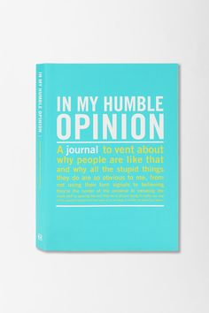 In My Opinion Mini Inner Truth Journal  #UrbanOutfitters Oh how I need this....