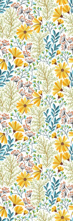 August Grove® Malinowski Removable Boho Spring Flowers 6.25' L x 25