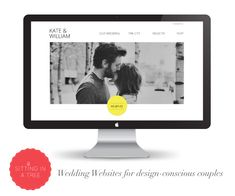 sittinginatree04 - Wedding website. Probably can recreate this style without having to pay 25$ a month