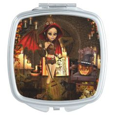 A Spell or Two Witch Compact Mirror. #Witch #Magical #CompactMirror #Witchgift #Magic