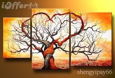 Colorful Tree Modern Abstract Hand Painted Oil Painting on Canvas Wall Art Deco Home Decoration (Unstretch No Frame) Tree Of Life Painting, Large Painting, Oil Painting Abstract, Hand Painting Art, Painting Canvas, Abstract Art, Painting Gallery, Abstract Trees, Tree Of Life Art