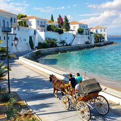 Challenge yourself with this Spetses Greece. no car Island jigsaw puzzle for free. Places To Travel, Places To See, Places In Greece, Greece Islands, Greece Travel, Travel Pictures, Beautiful Places, Scenery, Instagram