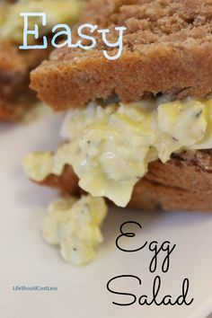 Easy Egg Salad, For Sandwiches. You probably already have all the ingredients in the house!
