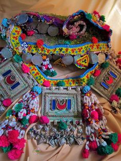 Turkmen treasures with pops of color.