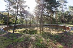 <b>Nominated at the EUROPEAN UNION PRIZE FOR CONTEMPORARY ARCHITECTURE MIES VAN DER ROHE AWARD 2015</b><br><br> <b>HOSTEL WADI in De Hoge Rielen Youth center<br>         an architecture-landscape in the 300 hectare forest and former military base</b>...