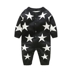 Cute Star Pattern Long Sleeves Jumpsuit for Baby 17.21