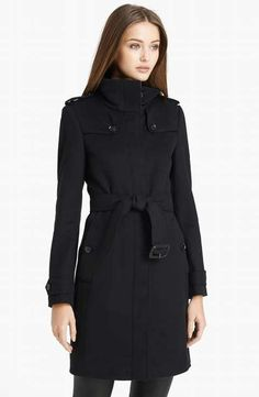 Burberry London 'Basingstoke' Wool & Cashmere Coat