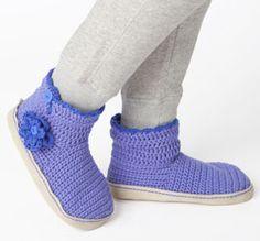 Crocheted Slipper Booties free pattern