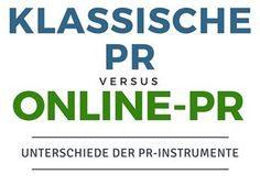 #Infografik: Klassische PR vs. #OnlinePR: Die wichtigsten Unterschiede