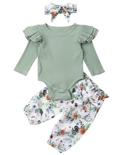 Newborn Girl Outfits, Cute Baby Girl Outfits, Baby Girl Newborn, Baby Boy Style, Baby First Outfit, My Baby Girl, Pants Outfits, Floral Pants Outfit, Winter Outfits For Girls