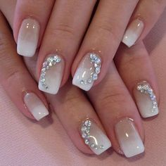 Ideas french manicure gel nails thoughts for 2019 Fancy Nails, Cute Nails, Pretty Nails, Hair And Nails, My Nails, French Manicure Gel Nails, Japanese Nail Design, Wedding Day Nails, Bride Nails