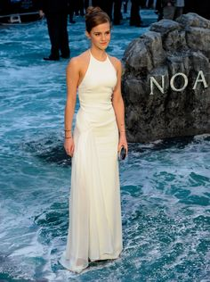This would be a gorgeous wedding dress. Simple, elegant, understated without being boring.