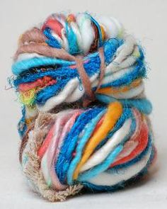purl soho | products | item | rolling stone (knit collage) - uses recycled sari silk.