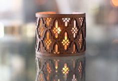 3-D Geometric Cuff - Moroccan Zellij inspired. $60.00, via Etsy.