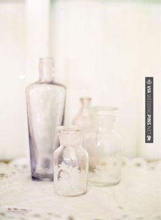 Awesome - Style Me Pretty /vintage bottles | CHECK OUT MORE GREAT WHITE WEDDING IDEAS AT WEDDINGPINS.NET | #weddings #whitewedding #white #thecolorwhite #events #forweddings #ilovewhite #bright #pure #love #romance