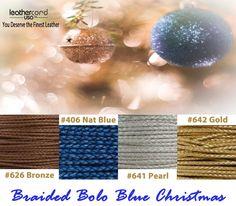 Braided Bolo Blue Christmas #Christmas #blue #Holiday #Season #leathercordusa