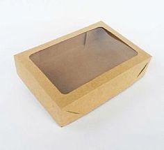 Caixa 15 trufas c/ visor retangular - doce embalagem