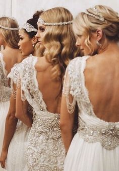 bridal and headpiece | by anna campbell