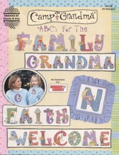 Camp Grandma ABCs For the Family Cross Stitch Book | PamsBeadParadise - Patterns on ArtFire