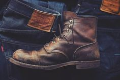 Red Wing Military Boot Men - Note to self, need to find some decent boots.