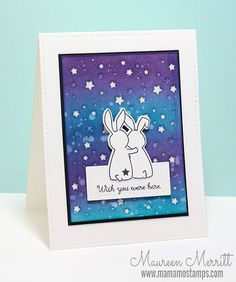 Mama Mo Stamps: WPlus9 August Release - Wish You Were Here, Starry Background Die