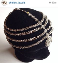 Gorgeous bejeweled all around wedding headpiece for bride.