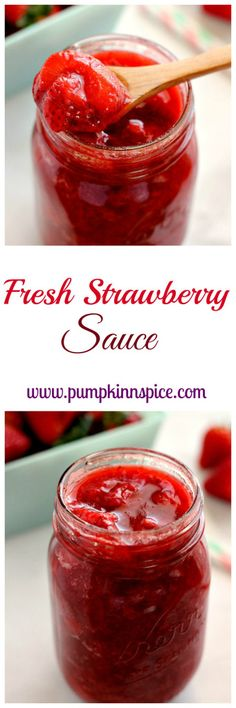 Bursting with juicy strawberries and brimming with flavor, this Fresh Strawberry Sauce is the perfect topping for pancakes, ice cream, yogurt, and more!