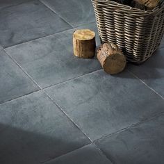 Clays Black floor tile option