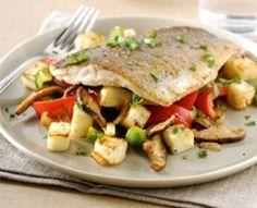 dinsdag: Zeebaars met gebakken groenten