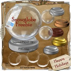 Snow Globe PSD PNG template freebie Commercial Use okay | LCS Designs