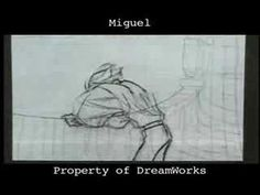 Dreamworks traditional animation pencil tests.