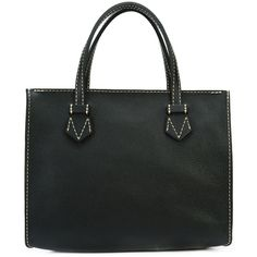 Moreau Brégançon tote bag ($2,086) ❤ liked on Polyvore featuring bags, handbags, tote bags, black, leather handbag tote, zippered leather tote, handbags totes, leather tote bags and leather tote purse