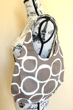 Hobo Tote Bag Shoulder Bag Reversible Purse by LittleMissPoBean