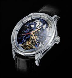 H. Moser & Cie. Venturer Tourbillon Dual Time Sapphire Skeleton