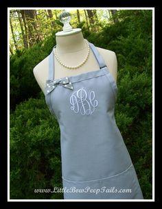 Gray Gourmet Monogrammed Apron - $23.95, via Etsy.