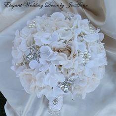 HYDRANGEA BROOCH BOUQUET Brooch Bouquet by Elegantweddingdecor