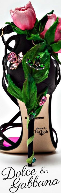 ❇Téa Tosh❇ Dolce & Gabbana Botanical Fashion, First Perfume, Expensive Shoes, Unique Shoes, High Heel Boots, Knee Boots, Beautiful Shoes, Fashion Boots, Pink And Green