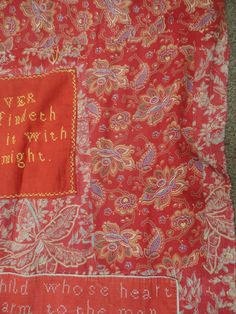 Tennants Auctioneers: Late 19th Century Turkey Red Paisley 'Marriage' Quilt